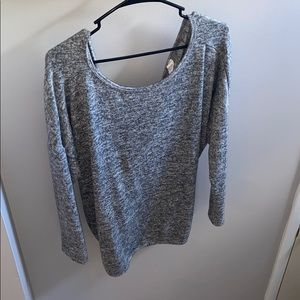 Sweater with a twist back